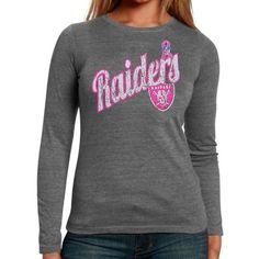 085a4ed2811 Oakland Raiders Breast Cancer Awareness Long Sleeve T-Shirt Oakland Raiders  Merchandise