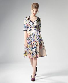 Swoon-worthy floral frock by Leona Edmiston.