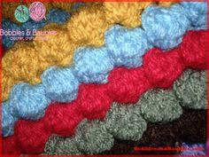 Crochet My Never Ending Scrap Yarn Bobble Blanket pattern, http://crochetjewel.com/?p=4744