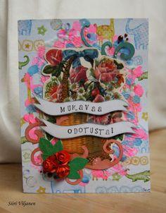 Käsitöitä flamencohame hulmuten * Siiri Viljanen - Baby shower card