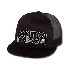 Chino Raised Flat Bill Trucker Hat
