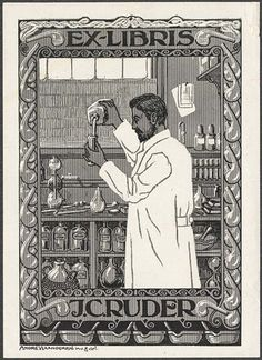Book plate by Vlaanderen, André, 1881-1955 by UI Urbana Library Digital Collections, via Flickr