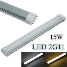(4pcs/Lot) 2G11 15W LED Tube 4Pin Linestra Lamp LED Light 85-265V 2G11 Led Integrated Tube Lamp Replace Halogen #Affiliate