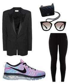 """Street Style"" by claudiagabriela18 on Polyvore featuring Yves Saint Laurent, New Look, Prada, Chanel and NIKE"
