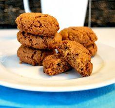 Lækre #PeanutButterCookies, de er #glutenfrie, hvedefri, sojafri og de kan laves uden sukker.