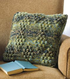 Bobble-Stitch Crochet Pillow