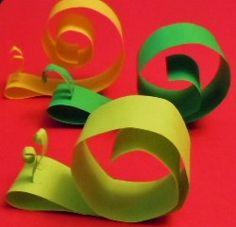 Snail Paper Sculpture. Simple, fun, and SUPER cute!