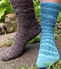 Regatta Sock Kit - by Anne Hanson featuring Lorna's Laces  - available from Signature Needle Arts.com