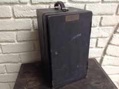 Vintage 40s black wooden Spencer microscope case Storage box by Hannahandhersisters on Etsy