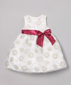 Love this Nannette White & Red Floral Bow Dress - Infant, Toddler & Girls by Nannette on #zulily! #zulilyfinds