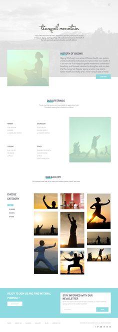 Tranquil Website Design, Logo Design, Brand Identity - Martial Arts, Nonprofit