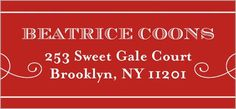 Address Labels: Sweet Memories, Square, Red