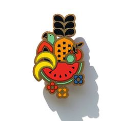 Mexican-inspired fruit brooch by Iris De La Torre