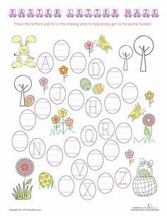 Worksheets: Easter Letter Maze