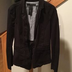 Calvin Klein Blazer Black Calvin Klein blazer.  Had a stretchy side panel and arms also. Minor fading from washing but still in great shape. Calvin Klein Jackets & Coats Blazers