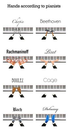 I don't agree on the Beethoven hands.