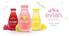 Evian lance sa gamme d'eaux aromatisées