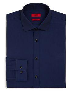 3983ae1d6772 HUGO HUGO Red Textured Solid Slim Fit Dress Shirt Men - Bloomingdale s