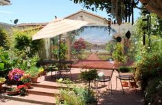 Patio View of Mural