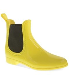 Dirty Laundry Chariot Chelsea Rain Booties Womens Shoes Yellow 9M ** More info could be found at the image url.