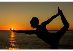 Yoga Sunset - Lord of the Dance - Warrior Pose - La Jolla Beach - San Diego - Power - Balance - Control - Yoga Pose - Photo Print