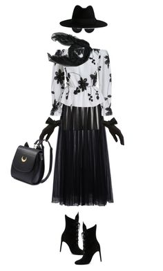 """""""T e x a s Autumn"""" by nonniekiss ❤ liked on Polyvore featuring Valentino, Yves Saint Laurent, Black and Kendall + Kylie"""