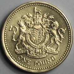 one pound coin, coat of arms - My CMS One Pound Coin, Best Of British, Kingdom Of Great Britain, England And Scotland, World Coins, Union Jack, Coin Collecting, Coat Of Arms, London England