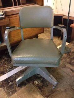 Vintage Metal Mad Men Office Chair   $125