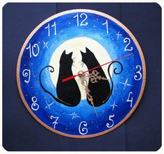 The love cats Wall clock