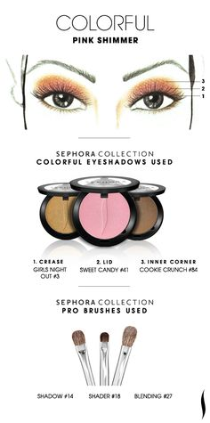 COLORFUL: Pink Shimmer HOW TO #sephoracollection #sephora #eyeshadow #makeup