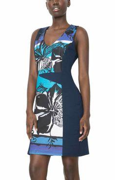 61V21B9_5051 Desigual Dress Juana Blue, Canada