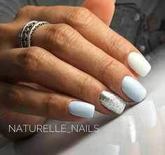 In look for some nail designs and ideas for your nails? Listed here is our set of must-try coffin acrylic nails for fashionable women. Square Acrylic Nails, Best Acrylic Nails, Stylish Nails, Trendy Nails, Pink Nails, My Nails, Blue Shellac Nails, Pastel Blue Nails, Gel Manicures