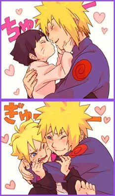 Minato, Boruto & Himawari | This is just... ASDFGHJKL! It's too much for me to handle... It's too freaking kawaii!  (• π •) | Naruto