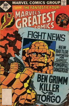 Marvel's Greatest Comics #74 (1977) Whitman Publishing Variant* redrawing Fantastic Four #92 (1969) (thanks to C. Diaz) *by November, 1977, Marvel had raised cover prices to 35¢