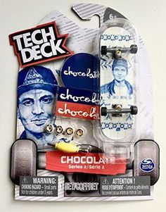 Tech Deck Series 2 Chico Brenes Chocolate Skateboard with Display Stand Ultra Rare