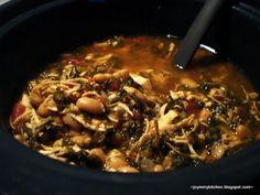 Chicken Spinach Soup (crockpot)