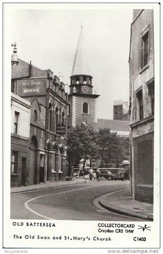 Old Battersea, the old Swan & St Marts Church