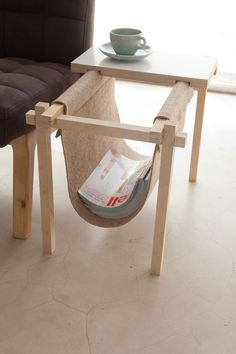Magazine Rack by Chuck Routhier - clever contemporary minimalist modern interior design furniture magazine rack - Plywood Furniture, Home Furniture, Furniture Design, Furniture Ideas, Cheap Furniture, Discount Furniture, Simple Furniture, Business Furniture, Furniture Layout