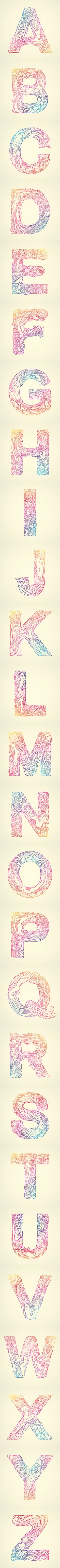 Whispered Garden Alphabets - ThuyMattit by Thuy Mat tit, via Behance