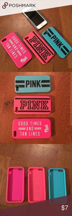 Victoria's Secret iPhone 5/5s phone cases 3 different iPhone cases. These are soft and flexible- rubbery-like texture PINK Victoria's Secret Other