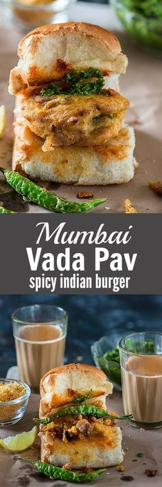 Vada Pav is one of the famous Mumbai street food and most favorite roadside snack. Mumbai vada pavown desi Indian burger is a sandwich in which spicy vada with chutney is sandwiched in pav bun.