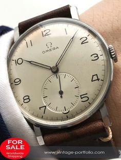 Serviced Omega Oversize Jumbo 38mm Uhr 1944 30t2 #omega #omegawatches #omegavintage #vintageos #rarewatches