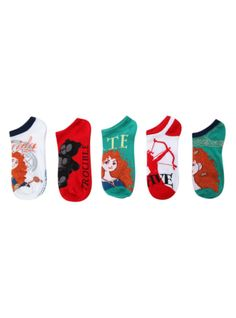 Disney Brave No-Show Socks 5 Pair | Hot Topic