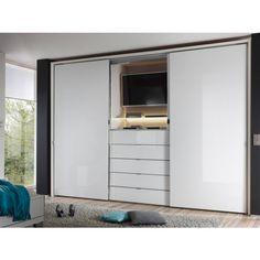 Schwebetürenschrank Media - 3-Türiger Schwebetürenschrank mit 5 Schubkästen. Media ist ihr neuer Kleiderschrank für das Schlafzimmer.