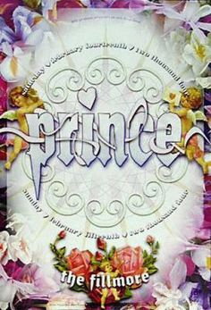 Original concert poster for Prince at The Fillmore in San Francisco in 2004 (Valentine's Day). Mint Condition. 13x19 inches on card stock. F...