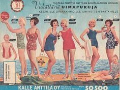 Kaikkea kaunista menneiltä ajoilta. Vintage Shops, Retro Vintage, Old Commercials, Magazine Articles, Teenage Years, Old Toys, 1950s Fashion, Ancient History, Album Covers
