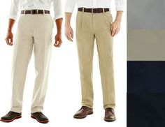 St Johns Bay Mens Pants Worry Free Chino Classic size 30 32 34 36 38 40 42 NEW 19.99 https://www.ebay.com/itm/332377346430