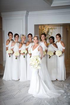 Photographer: Melissa White Bridesmaid Dresses, Bridesmaids, Wedding Dresses, White Tie Wedding, Kc Events, Wedding Ceremony Flowers, Luxury Wedding, Dream Wedding, Kansas City Wedding