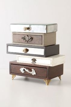 I bet you could diy this....Anthropologie Topsy-Turvy Jewelry Box $298