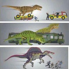 The Jurassic Park's (not including Jurassic World) T Rex Jurassic Park, Jurassic Park Trilogy, Jurassic Park Poster, Jurassic Park World, Jurassic Movies, Michael Crichton, Jurrassic Park, Park Art, Godzilla